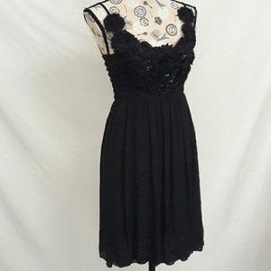 Daytrip Buckle Short Black Summer Dress Sz M